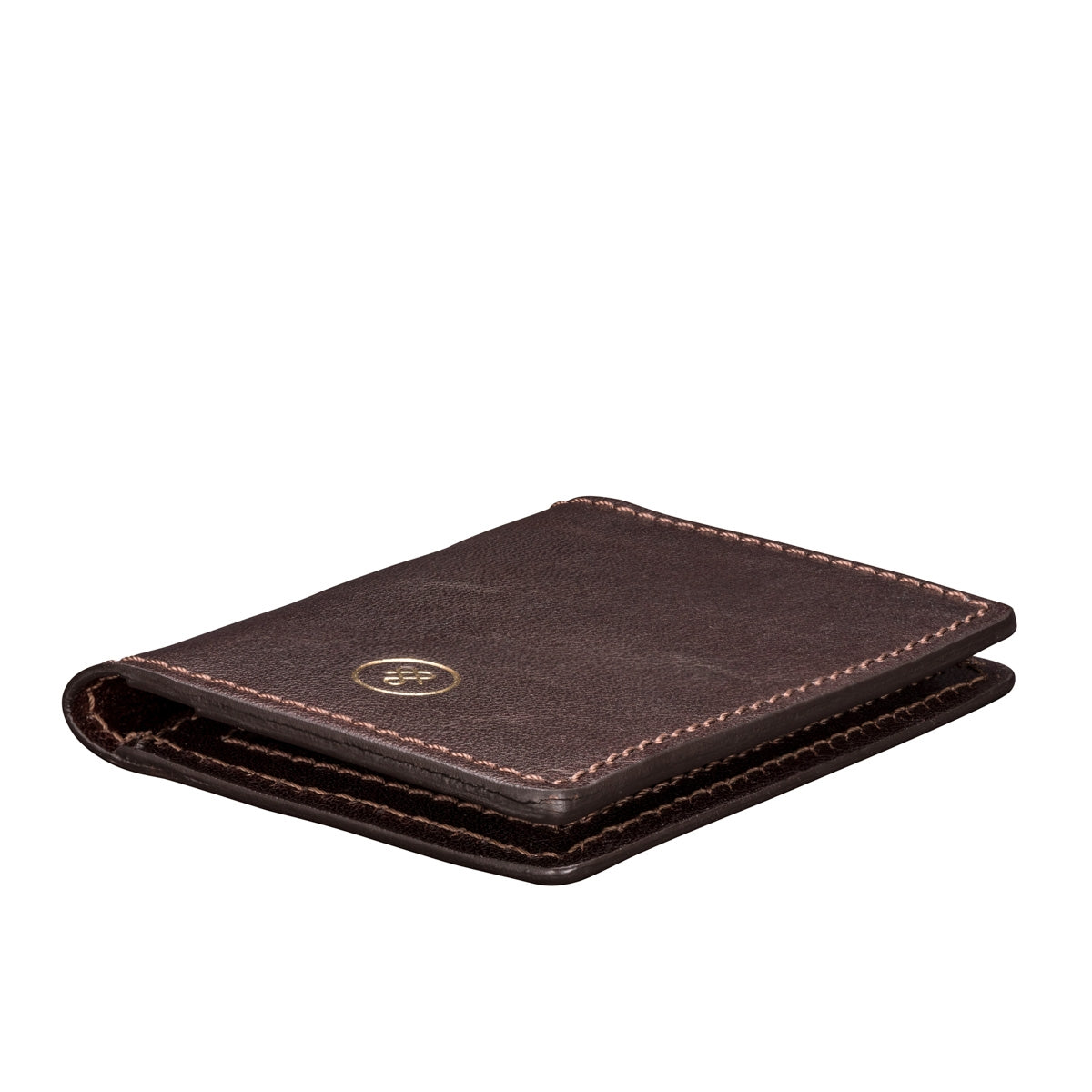 Image 5 of the 'Vallata' Brown Veg-Tanned Leather Oyster Card Holder