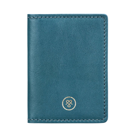Image 1 of the 'Vallata' Petrol Leather Oyster Card Holder