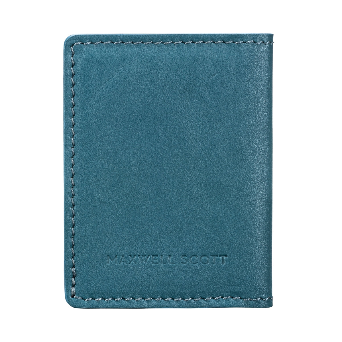 Image 3 of the 'Vallata' Petrol Leather Oyster Card Holder