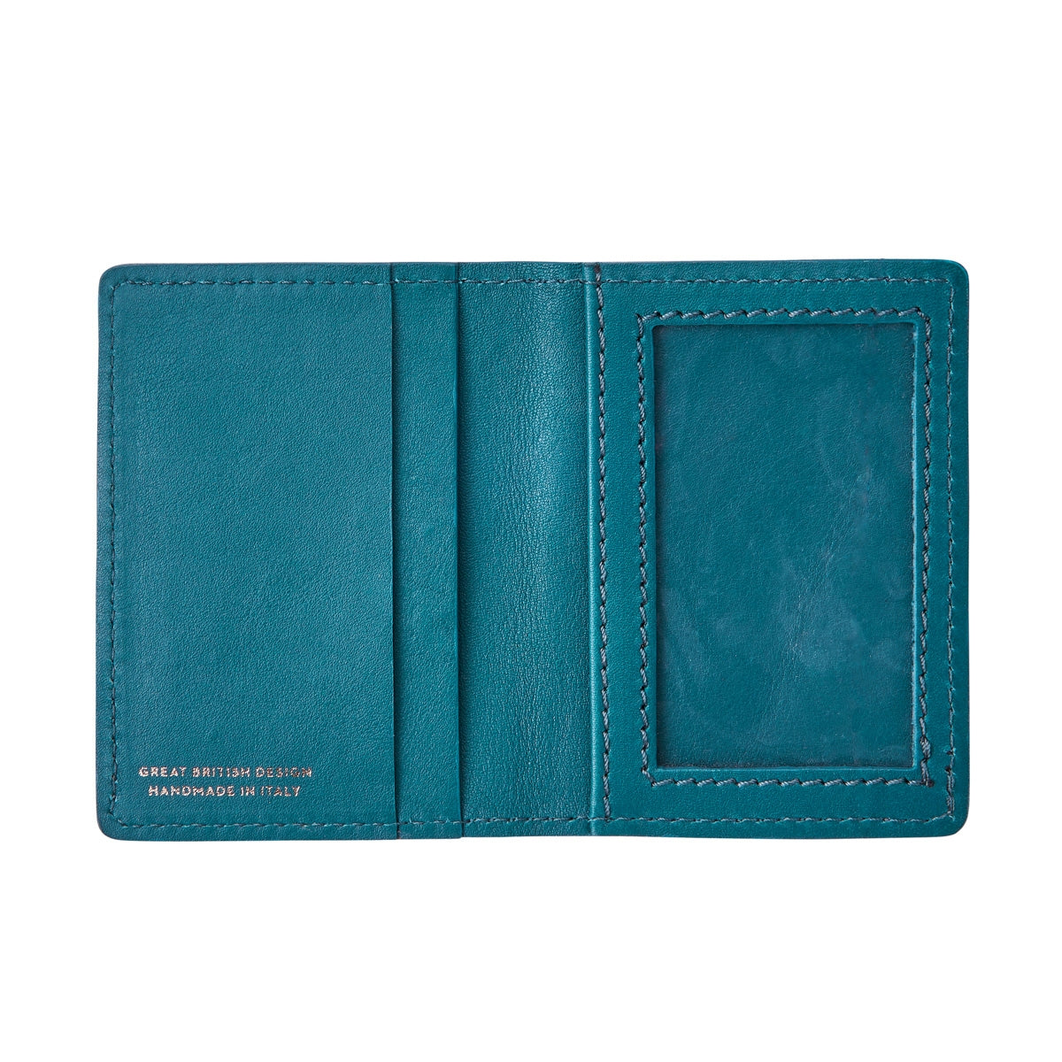 Image 4 of the 'Vallata' Petrol Leather Oyster Card Holder