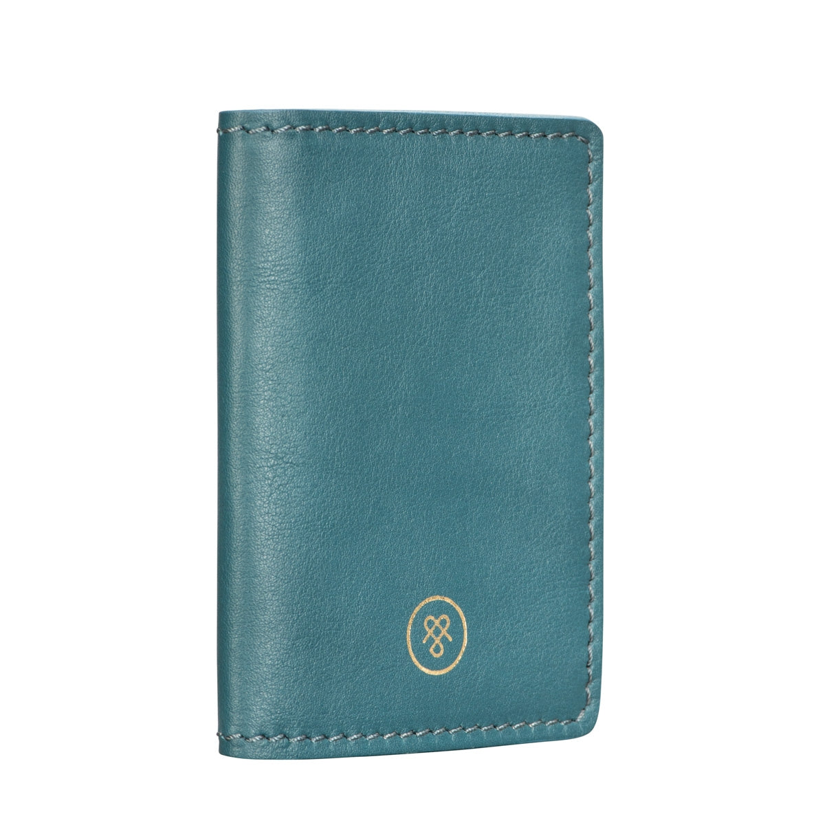 Image 2 of the 'Vallata' Petrol Leather Oyster Card Holder