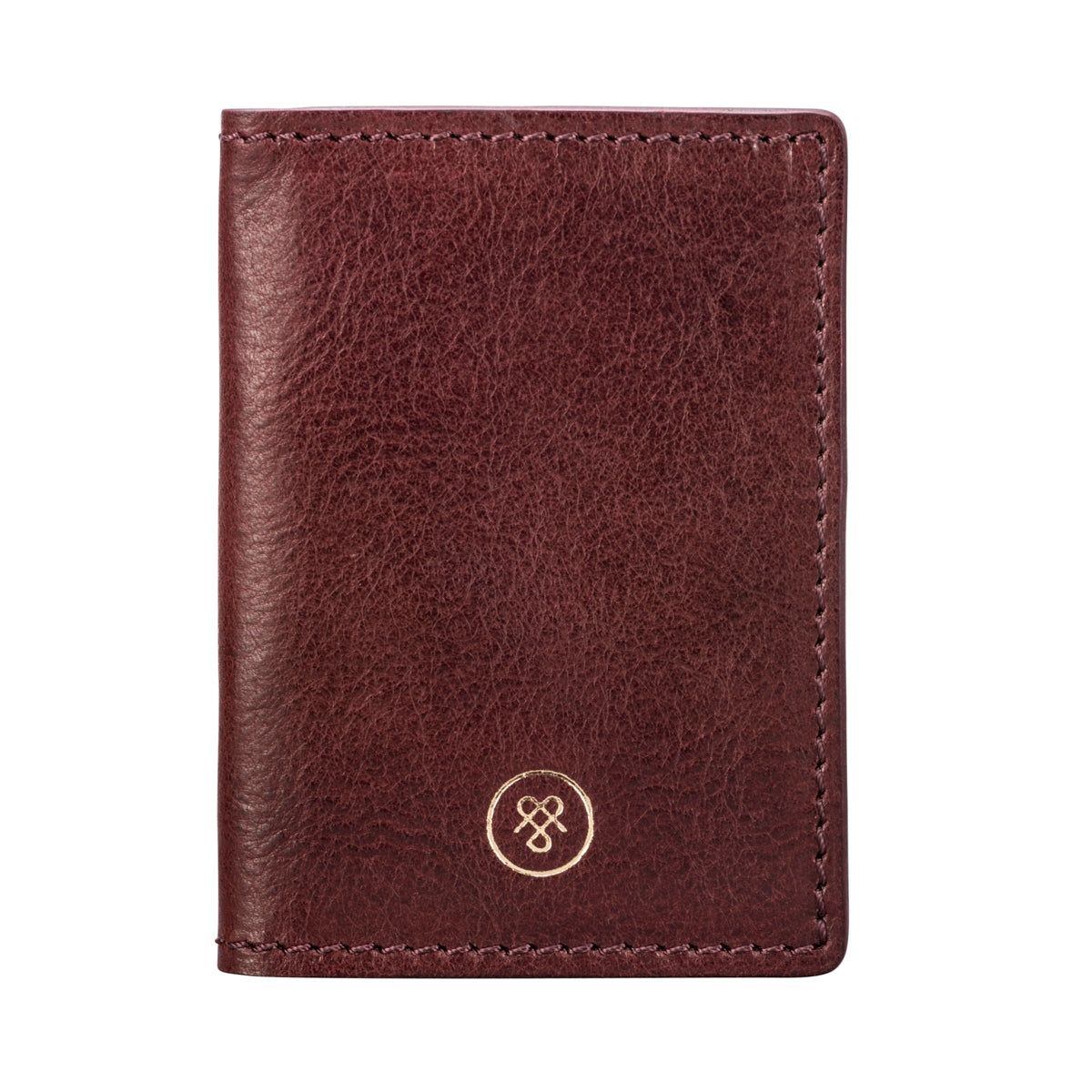 Image 1 of the 'Vallata' Wine Leather Oyster Card Holder