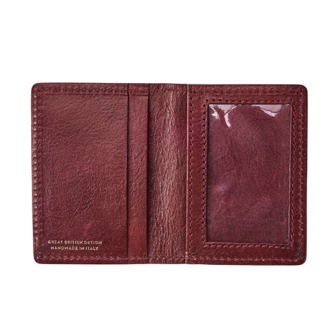 Image 2 of the 'Vallata' Wine Leather Oyster Card Holder