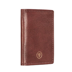 Image 4 of the 'Vallata' Wine Leather Oyster Card Holder