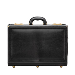 Image 1 of the 'Varese' Black Veg-Tanned Briefcase