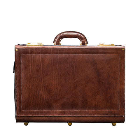 Image 1 of the 'Varese' Chocolate Veg-Tanned Briefcase