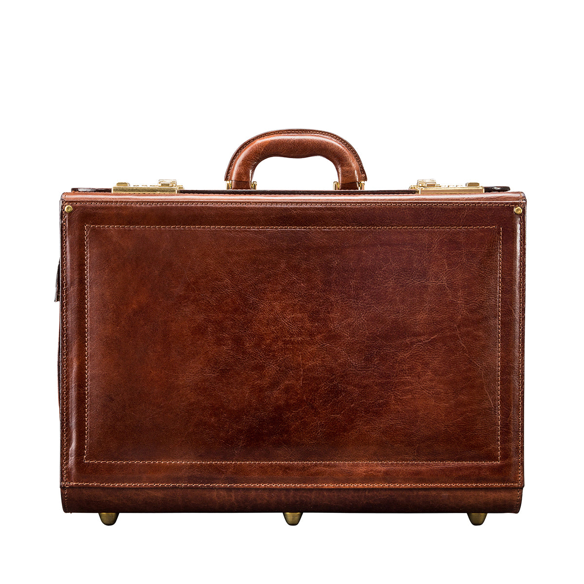 Image 1 of the 'Varese' Chestnut Veg-Tanned Briefcase