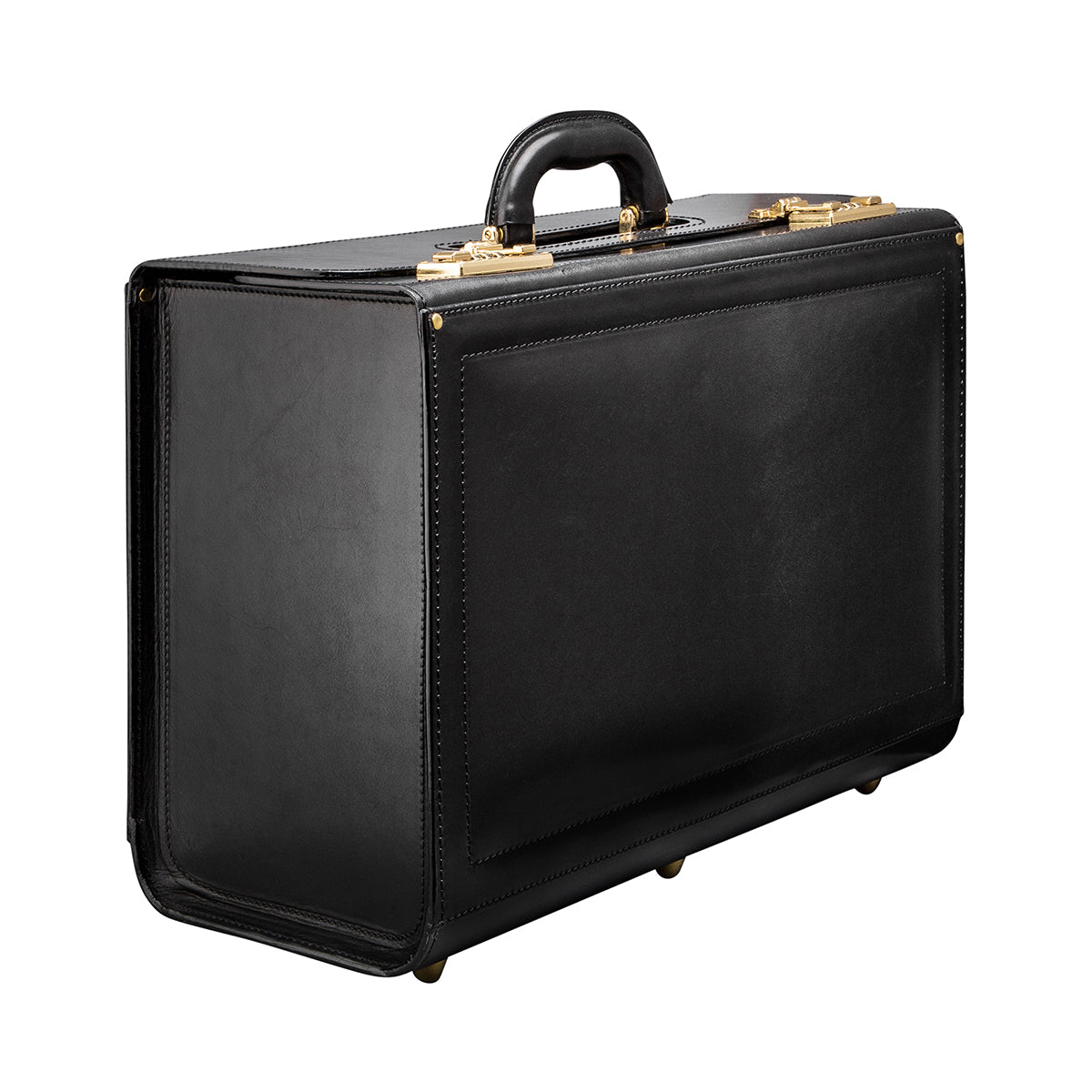 Image 2 of the 'Varese' Black Veg-Tanned Briefcase