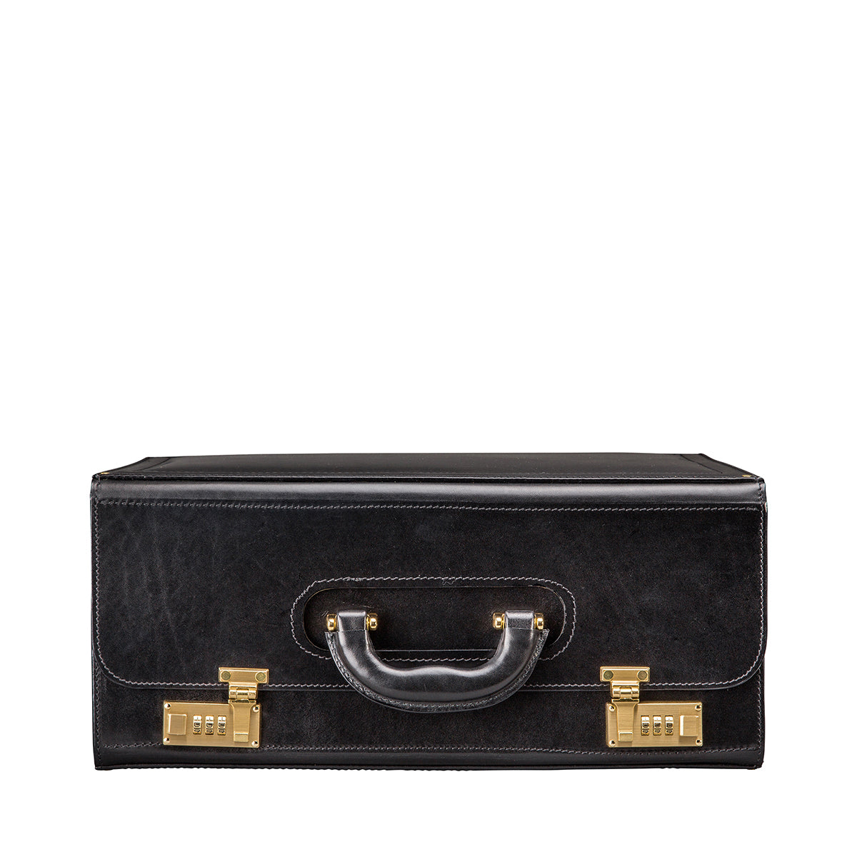 Image 3 of the 'Varese' Black Veg-Tanned Briefcase