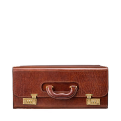 Image 3 of the 'Varese' Chestnut Veg-Tanned Briefcase