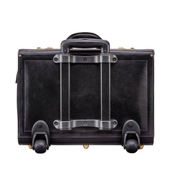 Image 4 of the 'Varese' Black Veg Tanned Wheeled Briefcase