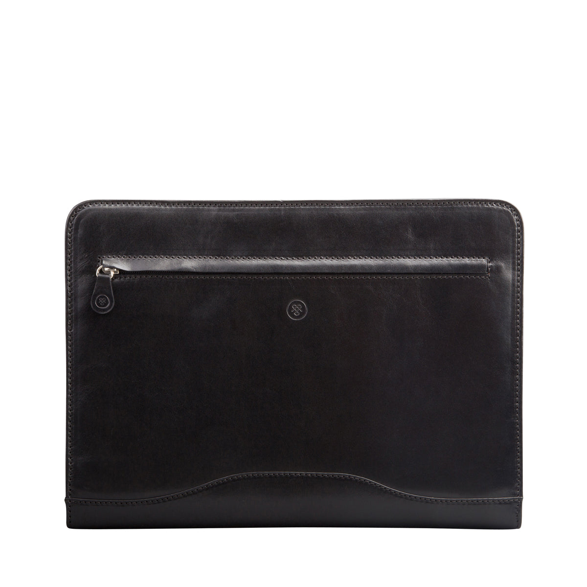 Image 1 of the 'Veroli' Black Leather Zipped Ring Binder
