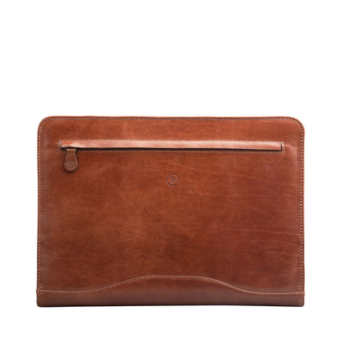 Image 1 of the 'Veroli' Chestnut Veg-Tanned Leather Zipped Ring Binder