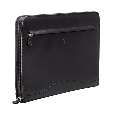 Image 2 of the 'Veroli' Black Leather Zipped Ring Binder