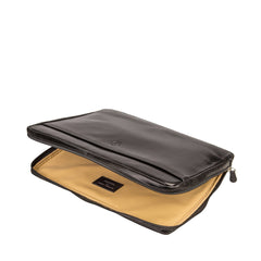 "Image 5 of the 'Verzino' Black Veg Tanned 15"" Leather Laptop Case"