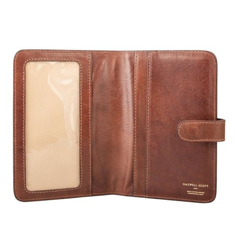 Image 1 of the 'Vieste' Chestnut Veg-Tanned Leather Travel Wallet