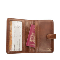 Image 5 of the 'Vieste' Chestnut Veg-Tanned Leather Travel Wallet