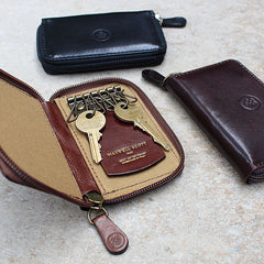 Image 6 of the 'Vinci' Chestnut Veg-Tanned Leather Key Wallet