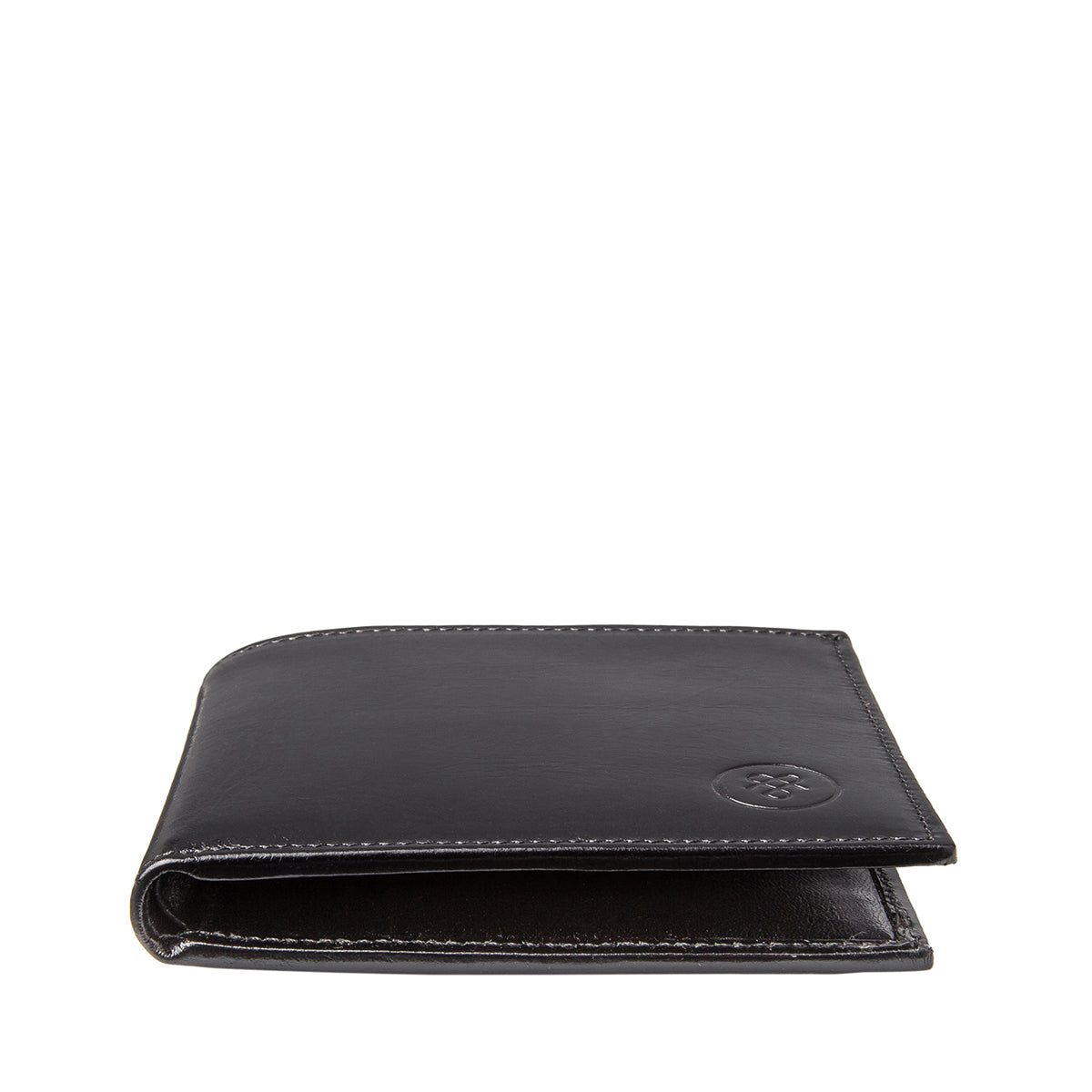 Image 5 of the 'Vittore' Black Veg-Tanned Leather Bi-Fold Wallet