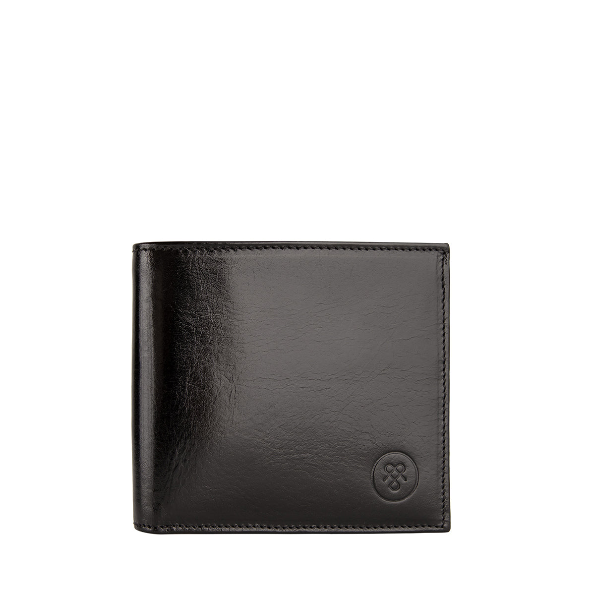 Image 1 of the 'Vittore' Black Veg-Tanned Leather Bi-Fold Wallet