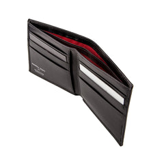 Image 4 of the 'Vittore' Black Veg-Tanned Leather Bi-Fold Wallet