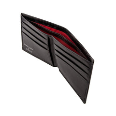 Image 3 of the 'Vittore' Black Veg-Tanned Leather Bi-Fold Wallet