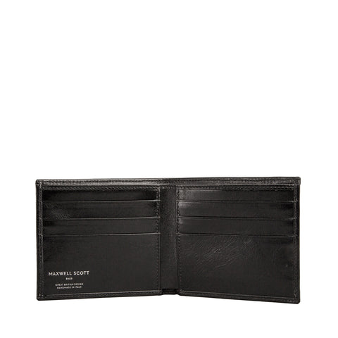 Image 2 of the 'Vittore' Black Veg-Tanned Leather Bi-Fold Wallet