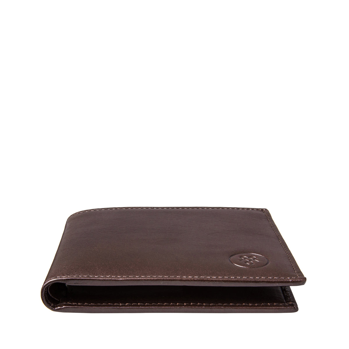 Image 5 of the 'Vittore' Dark Chocolate Veg-Tanned Leather Bi-Fold Wallet