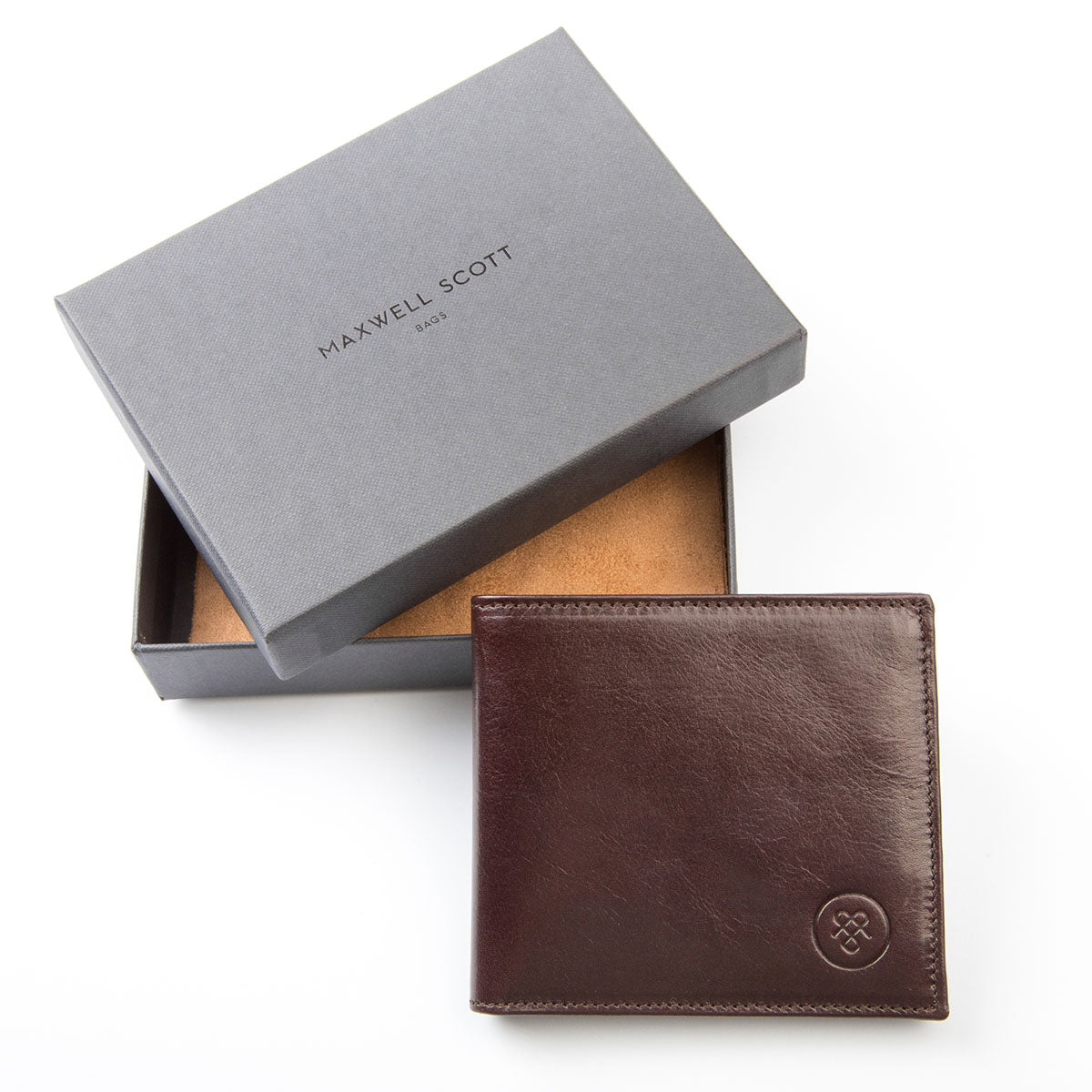 Image 6 of the 'Vittore' Dark Chocolate Veg-Tanned Leather Bi-Fold Wallet