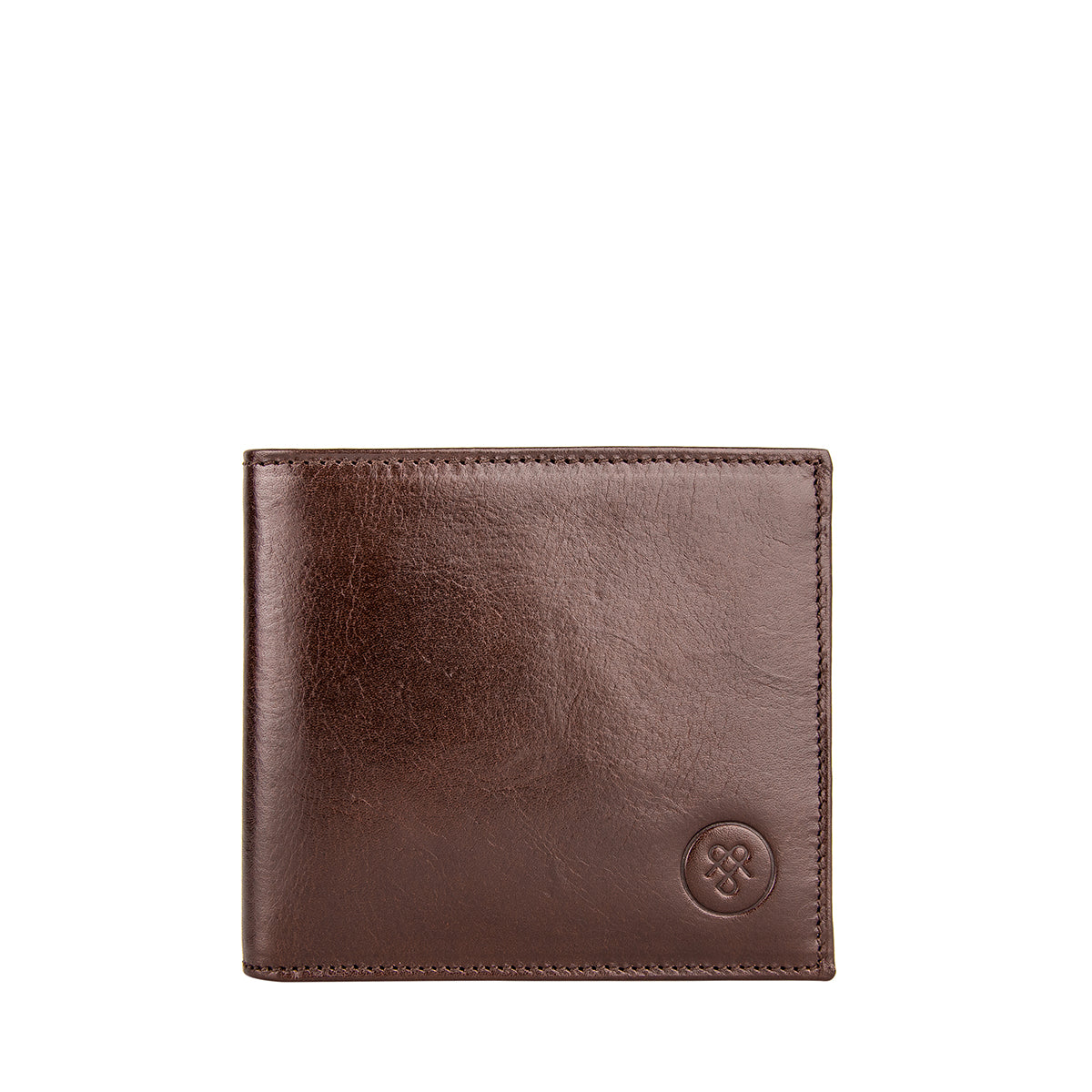 Image 1 of the 'Vittore' Dark Chocolate Veg-Tanned Leather Bi-Fold Wallet