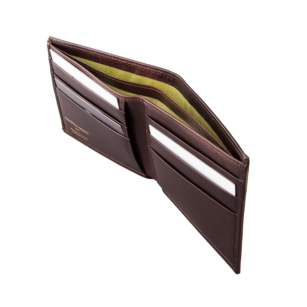 Image 4 of the 'Vittore' Dark Chocolate Veg-Tanned Leather Bi-Fold Wallet