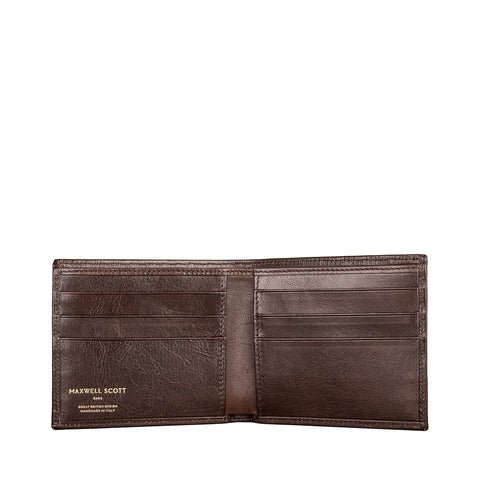 Image 2 of the 'Vittore' Dark Chocolate Veg-Tanned Leather Bi-Fold Wallet