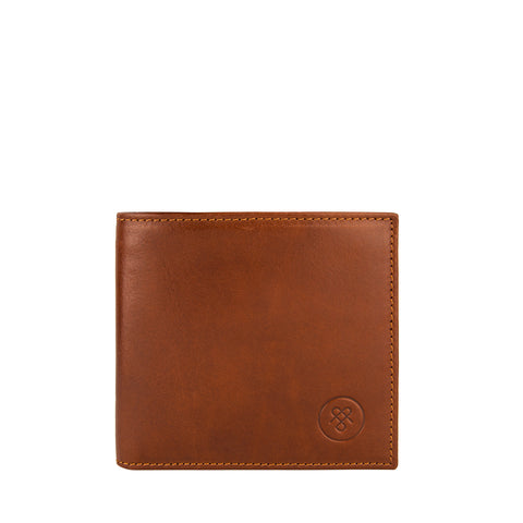 Image 1 of the 'Vittore' Chestnut Veg-Tanned Leather Bi-Fold Wallet