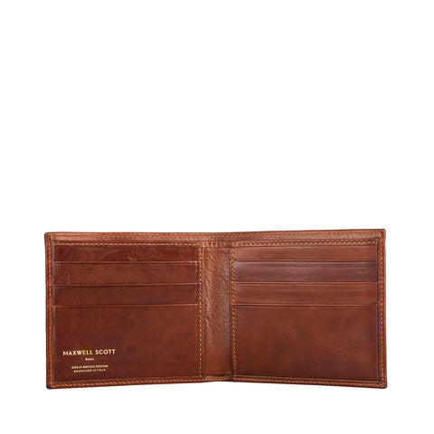 Image 2 of the 'Vittore' Chestnut Veg-Tanned Leather Bi-Fold Wallet