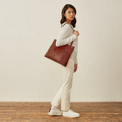 Image 9 of the 'Athenea' Chestnut Veg-Tanned Leather Shopper