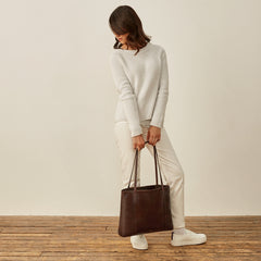 Image 9 of the 'Athenea' Dark Chocolate Veg-Tanned Leather Shopper