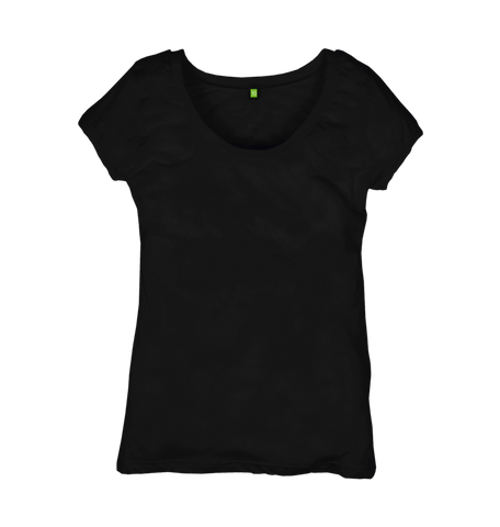 Image 1 of the Women's Organic Cotton Ethical Black T-Shirt