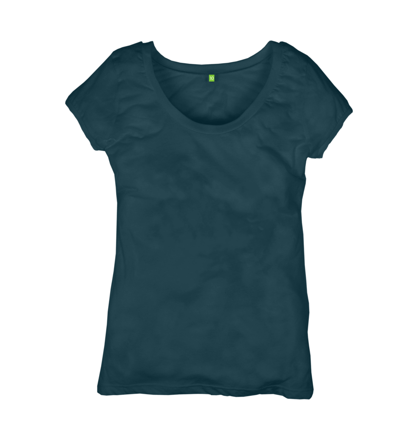 Image 1 of the Women's Organic Cotton Ethical Lagoon T-Shirt