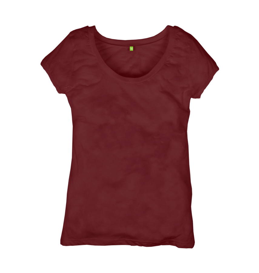 Image 1 of the Women's Organic Cotton Ethical Wine T-Shirt