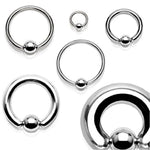 2PC Ball Closure Ring Blue Steel 14G-20G BCR Nose Nipple Tragus Lip - BodyJ4you