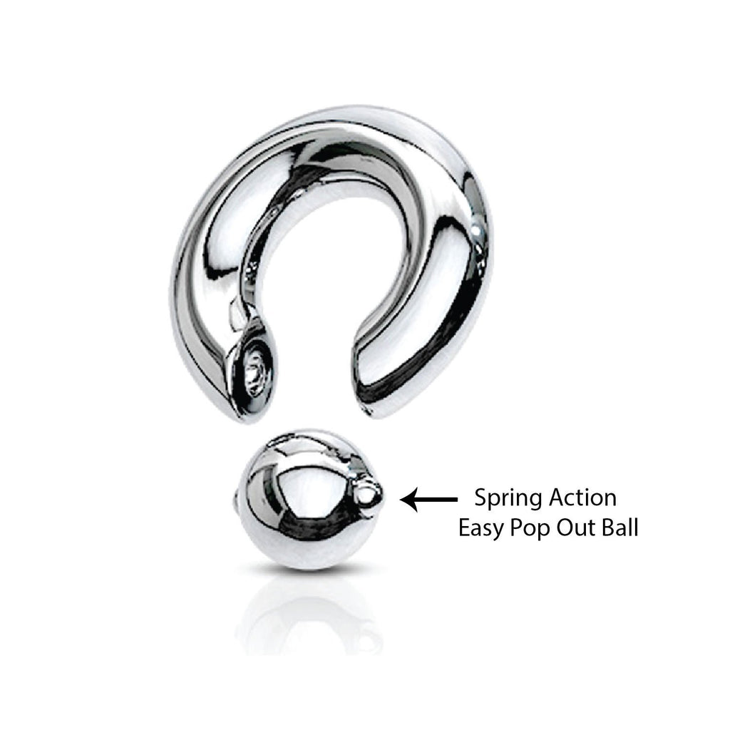 Stainless Steel Piercing ball closure crystal jeweled ball 10mm BCR-0323-CR