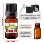 Jojoba Oil Golden Organic (5ml) Stretched Ear Lobe Natural Aftercare Wax Gauges Taper Plug (5ml)