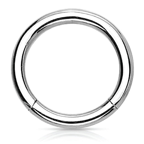 Piercing Ring Hinged Clicker Segment Hoop 4G-20G Surgical Steel Nose Septum Lip Tragus