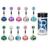10PC Belly Button Ring Aftercare Sea Salt CZ Stainless Steel 14G Navel Body Piercing