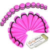 25PC Big Gauges Kit Ear Stretching Aftercare Balm 00G-20mm Multicolor Acrylic Tapers Plugs