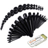 37PC Gauges Kit Ear Stretching Aftercare Balm 14G-00G Acrylic Taper Plug Piercing Jewelry