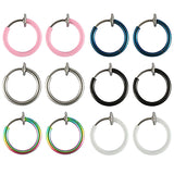BodyJ4You 12PC Fake Earrings Clip On Hoop Faux Non Piercing Ear Septum Cartilage Women Jewelry