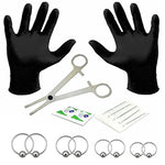 BodyJ4You 18PC PRO Piercing Kit Steel 18G 20G Ball Closure Ring Septum Nipple Lip Ear Body Jewelry