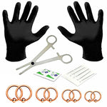 BodyJ4You 18PC PRO Piercing Kit Steel 14G Ball Closure Ring Septum Nipple Lip Ear Body Jewelry