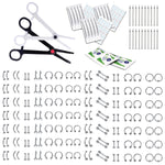 BodyJ4You 200-400PC Professional Body Piercing Kit 14G 16G Belly Ring Labret Tongue Tragus Jewelry